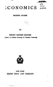 Cover of: Economics: Briefer Course | Henry Rogers Seager