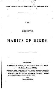 Cover of: The Domestic Habits of Birds | James Rennie