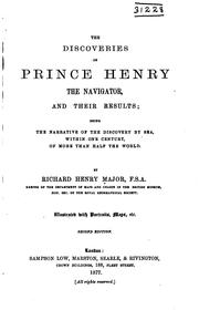 Cover of: The Discoveries of Prince Henry the Navigator, and Their Results: Being the ..