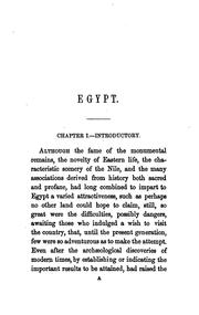 Cover of: Egypt: Its Climate, Character, and Resources as a Winter Resort