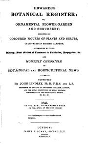 Cover of: Edwards's Botanical Register