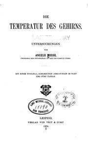 Cover of: Die Temperatur des Gehirns