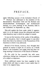 Cover of: Durham Cathedral: An Address Delivered September 24, 1879