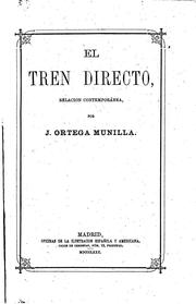 Cover of: El tren directo: Relacion contemporánea