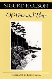 Cover of: Of time and place