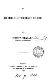 Cover of: The fourfold sovreignty of God (lects.)