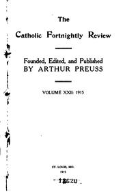 Cover of: The Fortnightly Review