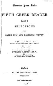 Cover of: Fifth Greek Reader