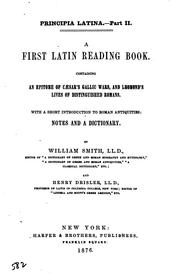 Cover of: First Latin Reading Book | William Smith