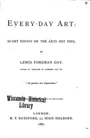 Cover of: Every-day Art: Short Essays on the Arts Not Fine