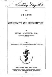 Cover of: The Ethics of Conformity and Subscription
