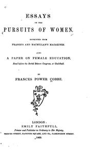 Cover of: Essays on the pursuits of women