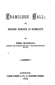 Cover of: Framilode hall; or, Before honour is humility