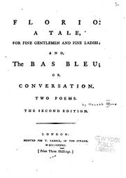 Cover of: Florio: a Tale: And The Bas Bleu, Or, Conversation : Two Poems