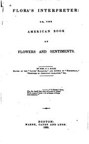 Cover of: Flora's Interpreter, Or The American Book of Flowers and Sentiments