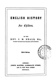Cover of: English history for children