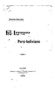 Cover of: El litigio Perú-boliviano