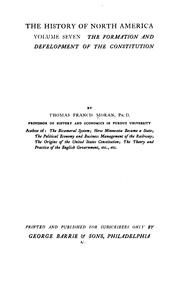 Cover of: The Formation and Development of the Constitution | Thomas Francis Moran