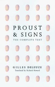 Cover of: Proust and signs | Gilles Deleuze