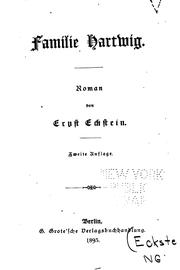 Cover of: Familie Hartwig