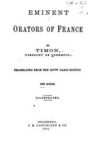 Cover of: Eminent Orators of France
