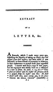 Cover of: Extract of a Letter to a Gentleman in Maryland: Wherein is Demonstrated the Extreme Wickedness ..