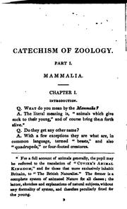 Cover of: First lines of zoology: By Question and Answer ..