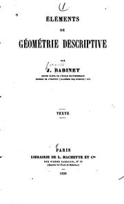 Cover of: Eléments de géométrie descriptive