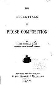 Cover of: The Essentials of Prose Composition