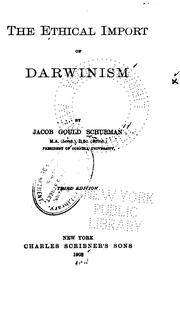 Cover of: The ethical import of Darwinism
