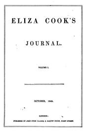 Cover of: Eliza Cook's Journal