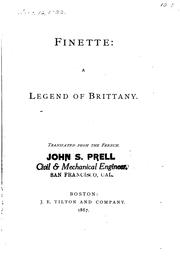 Cover of: Finette: A Legend of Brittany