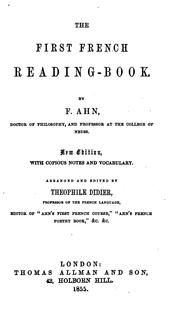 Cover of: The first French reading-book, by F. Ahn
