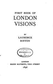 Cover of: First Book of London Visions