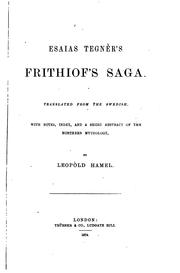 Cover of: Frithiof's Saga: Translated from the Swedish, with Notes, Index and a Short Abstract of the ..