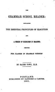 Cover of: The grammar school reader