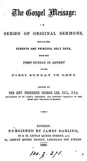 Cover of: The gospel message, sermons