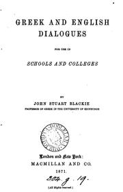 Cover of: Greek and English dialogues, for use in schools