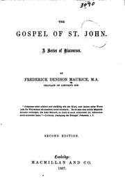 Cover of: The Gospel of St. John: A Series of Discourses