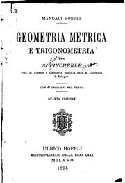 Cover of: Geometria metrica e trigonometria