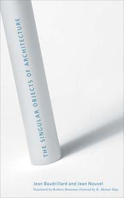 Cover of: The Singular Objects of Architecture