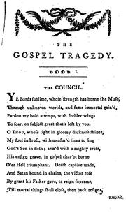 Cover of: The Gospel Tragedy: An Epic Poem. In Four Books ..