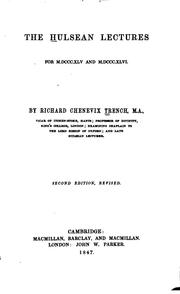 Cover of: The Hulsean Lectures for 1845 and 1846