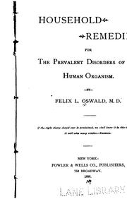 Cover of: Household remedies for the prevalent disorders of the human organism