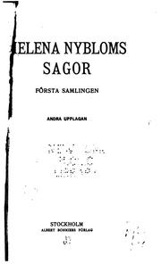 Cover of: Helena Nybloms sagor