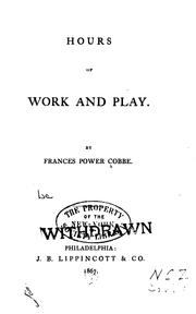 Cover of: Hours of Work and Play