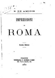 Cover of: Impressioni di Roma