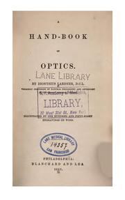 Cover of: Hand-book of optics: Illustrated by 158 Engravings on Wood