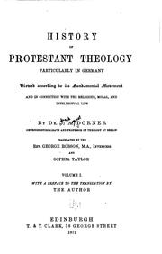 Cover of: History of Protestant Theology: Particularly in Germany : Viewed According ..