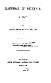 Cover of: Hannibal in Bithynia, a play [in verse]